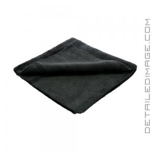 "DI Microfiber Polish Removal Edgeless Towel - 16"" x 16"" Black"