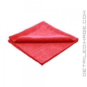 "DI Microfiber Polish Removal Edgeless Towel - 16"" x 16"" Red"