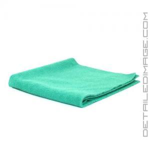 "DI Microfiber Polish Removal Edgeless Towel - 16"" x 16"" Green"