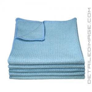"DI Microfiber Waffle Weave Glass Cleaning Towel Light Blue - 16"" x 16"""