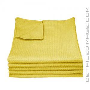 "DI Microfiber Waffle Weave Glass Cleaning Towel Yellow - 16"" x 16"""