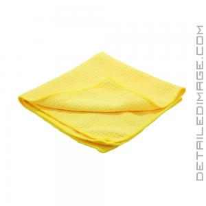 "DI Microfiber Waffle Weave Glass Cleaning Towel Yellow - 16"" x 16"""
