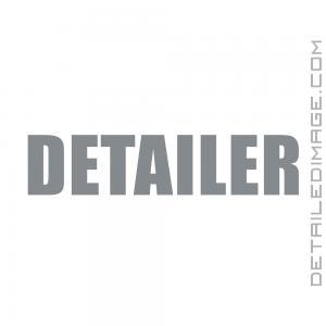 Detailer Vinyl Die Cut Sticker - Silver