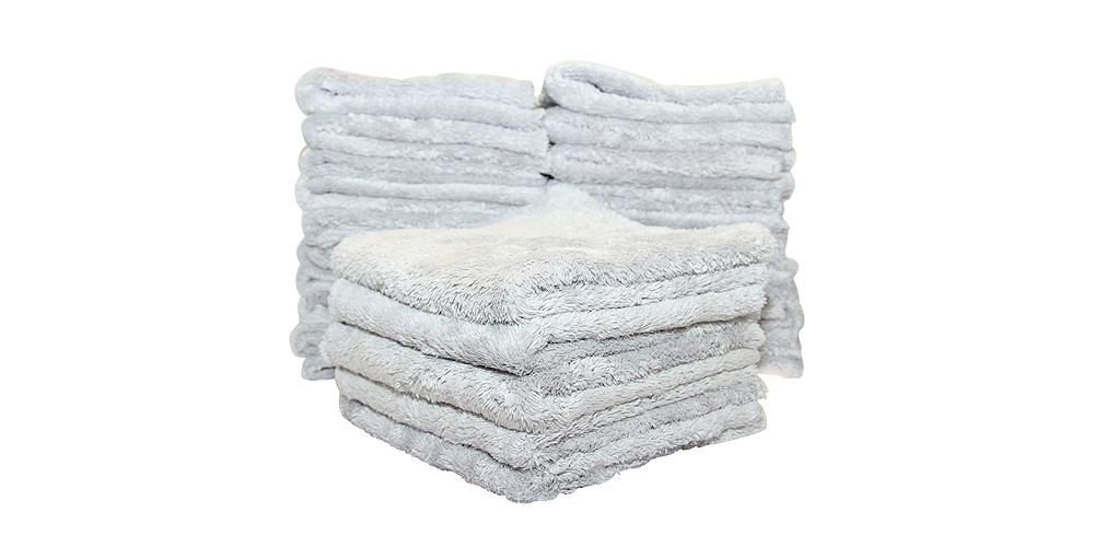 "The Rag Company Eagle Edgeless 500 Towel Light Grey 16"" x 16"" BULK 50x"