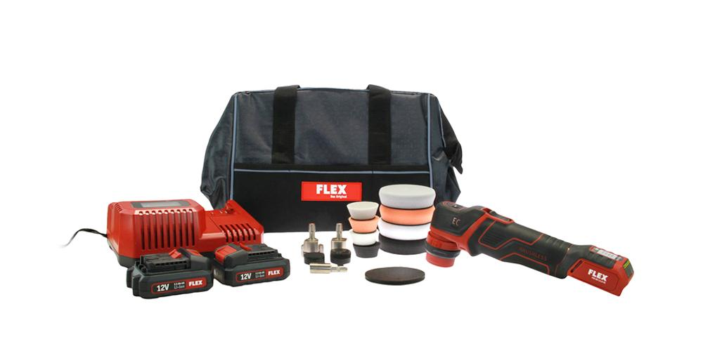 Flex PXE 80 12-EC 2.5 Cordless Polisher Starter Kit