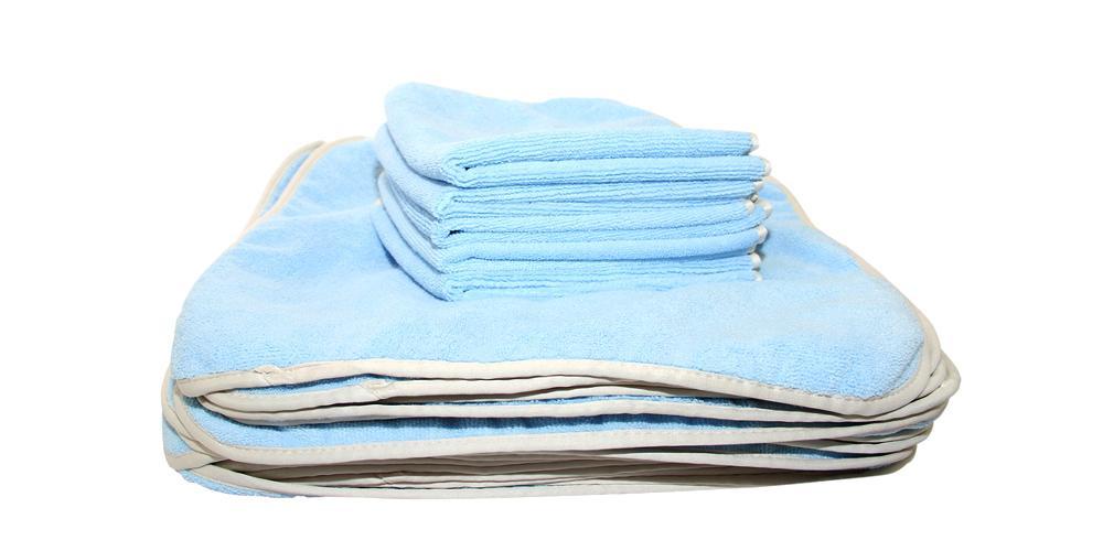 "DI Microfiber Premium All Purpose Towel Blue 16"" x 16"" BULK 24x"