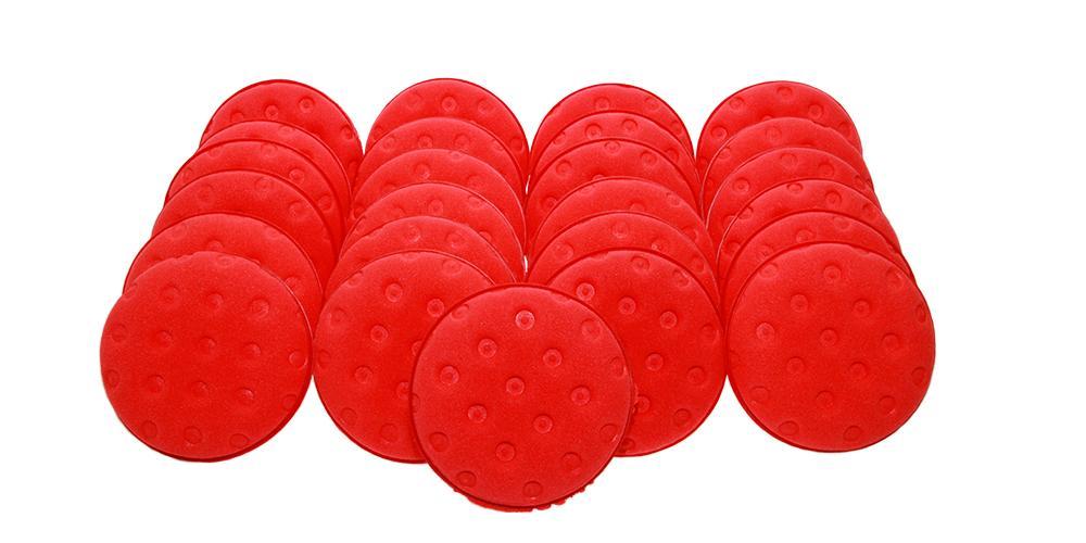 Lake Country Red Foam Applicator Pad BULK 25x