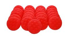 Lake Country Red Foam Applicator Pad BULK 25x