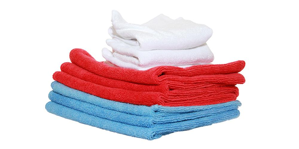 DI Microfiber Red, White and Blue Towels