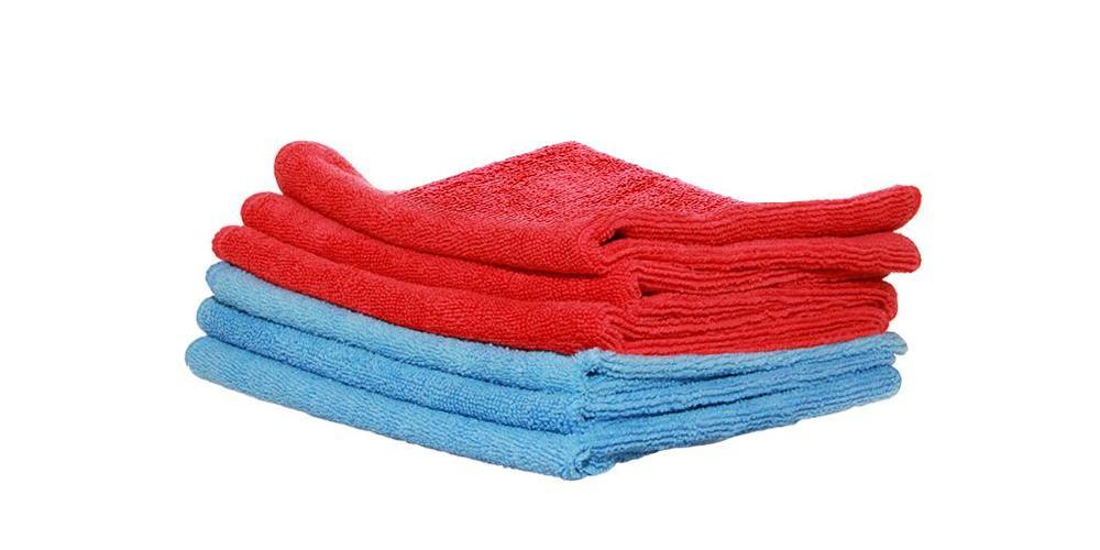 DI Microfiber Red and Blue Towels