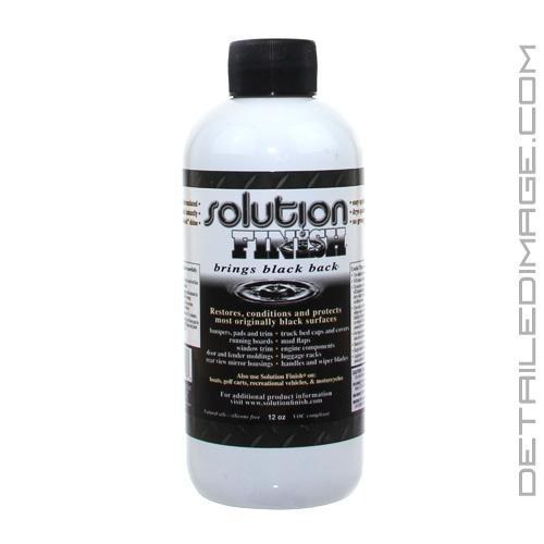 Solution finish trim restorer 12 oz black free Black interior car trim restorer