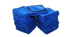 "The Rag Company Spectrum 420 Microfiber Royal Blue 16"" x 16"" BULK 25x"