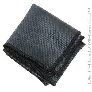"The Rag Company Diamond Glass Towel Black - 16"" x 16"""