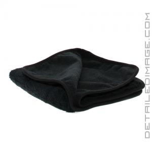 "The Rag Company Spectrum 420 Microfiber Towel Black - 16"" x 16"""