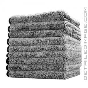 "The Rag Company Spectrum 420 Microfiber Towel Grey - 16"" x 16"""