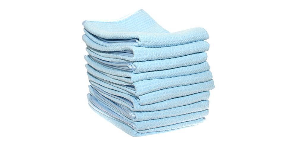 "DI Microfiber Waffle Weave Drying Towel 16"" x 24"" BULK 10x"