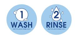 Wash and Rinse Bucket Stickers (Blue)