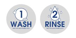 Wash and Rinse Bucket Stickers (Grey)